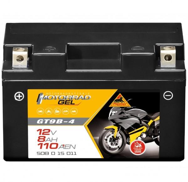 Panther YT9B-BS Motorradbatterie GEL 12V 8Ah GT9B-4 50815