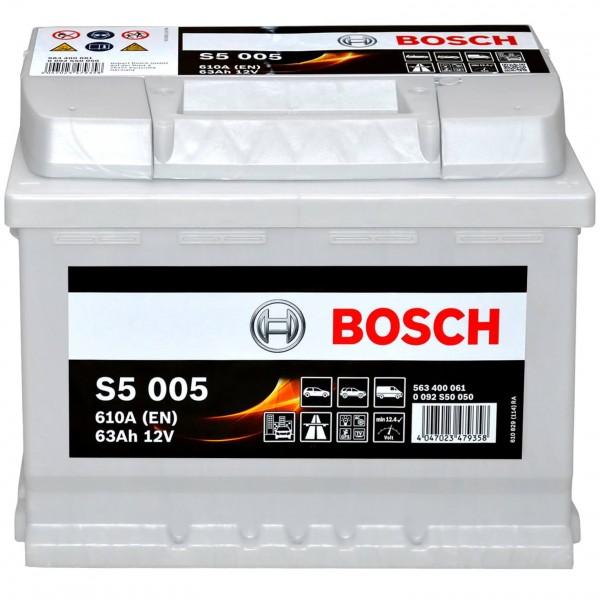 Bosch 12V 63Ah S5005 Batterie 0092S50050
