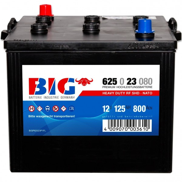 BIG LKW Premium 12V 125Ah Nato Block Batterie 62523