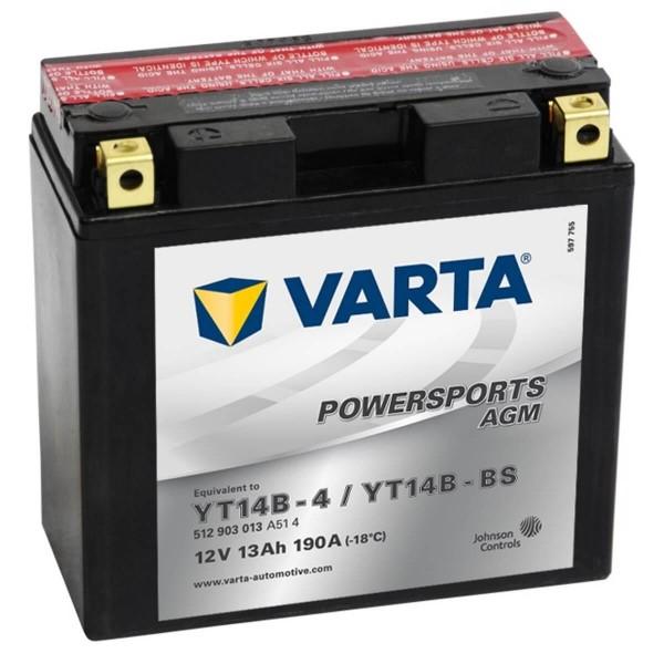 Varta POWERSPORTS AGM 12V 12Ah 130A/EN YT14B-4 / YT14B-BS ETN 512903013