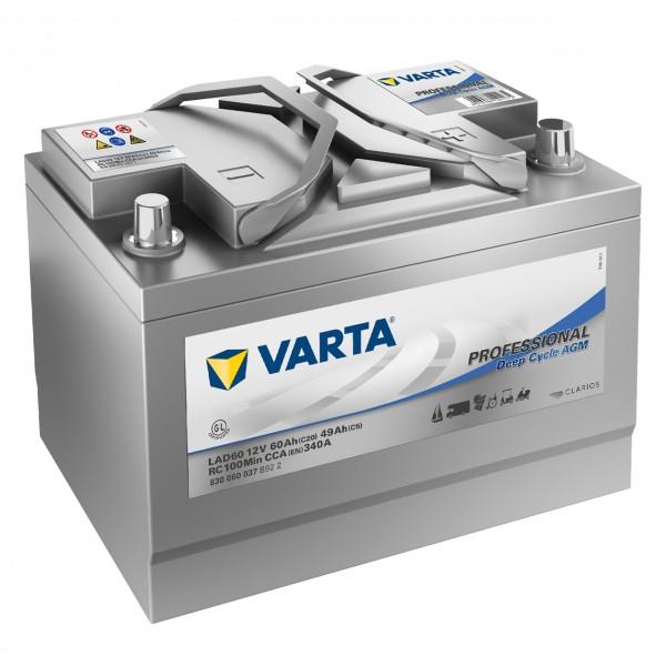 Varta LAD60 AGM 12V 60Ah Versorgerbatterie