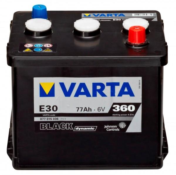 Varta E30 Black Dynamic 6V 77Ah 360A