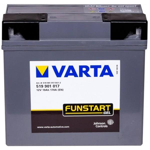 Varta Motorradbatterie GEL 12V 19Ah BMW G19 519901017