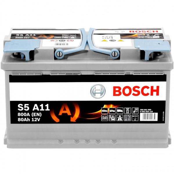 Bosch S5A11 12V 80Ah AGM VRLA 0092S5A110