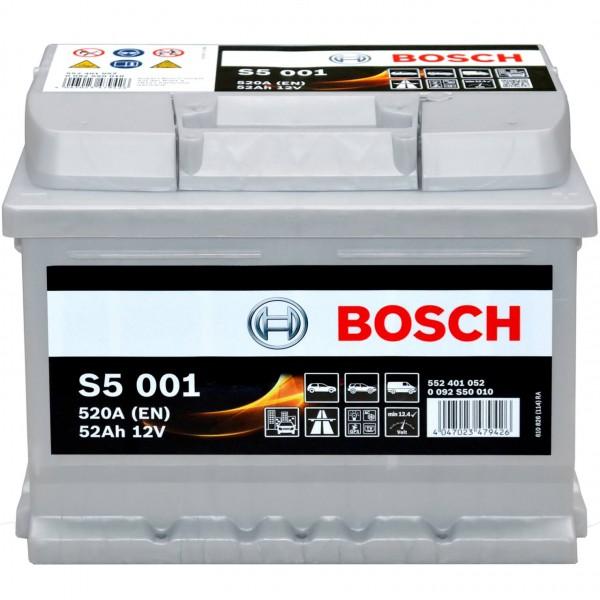 Bosch 52Ah S5001 Batterie 0092S50010