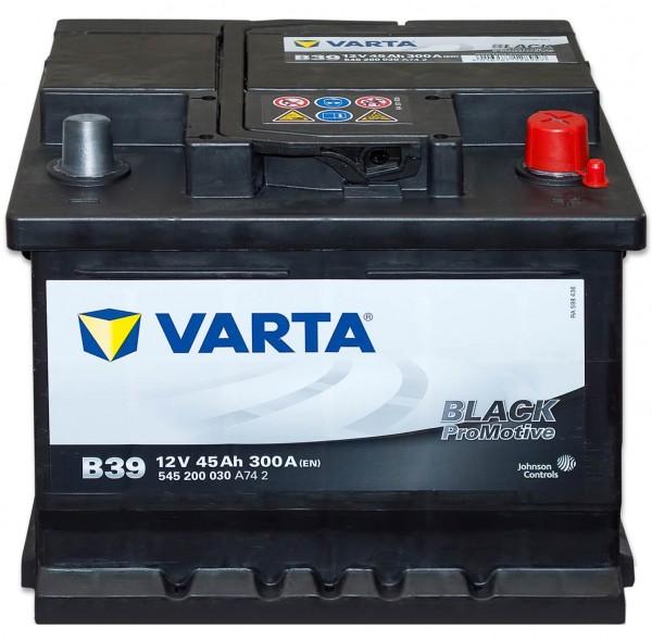 Varta B39 Promotive Black 12V 45Ah 300A