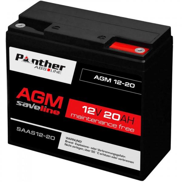 Panther saveline AGM-Batterie 12V 20Ah