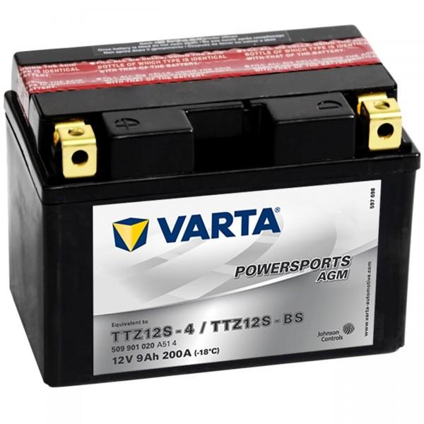 Varta YTZ12S-BS Powersports AGM 12V 9Ah Motorradbatterie YTZ12S-4