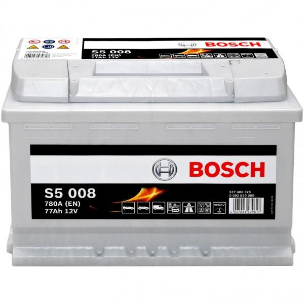 Bosch 12V 77Ah S5008 Batterie 0092S50080