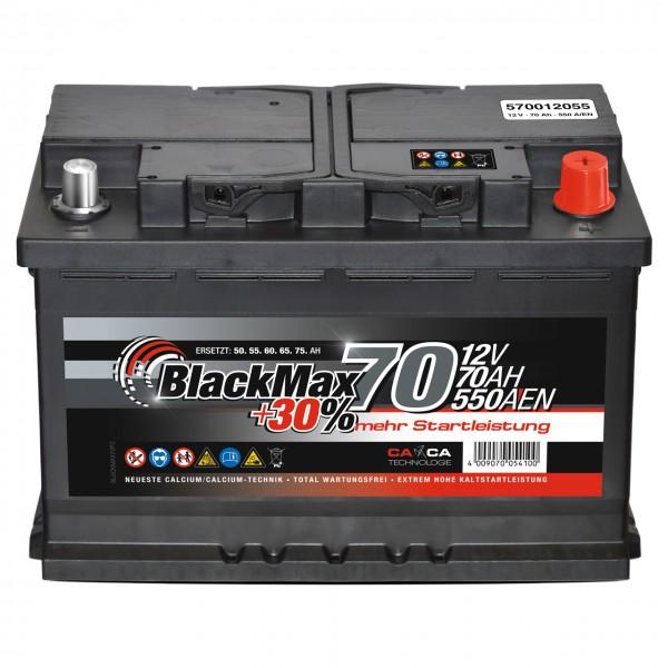 BlackMax +30 Edition Starterbatterie 12V 70Ah 550A/EN
