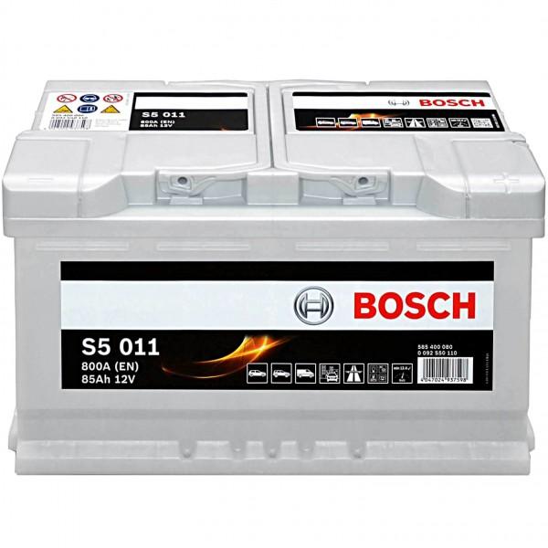 Autobatterie Bosch 12V 85Ah S5011 Batterie 0092S50110