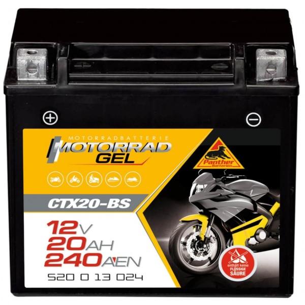 Panther YTX20-BS Motorradbatterie GEL 12V 18Ah 52013