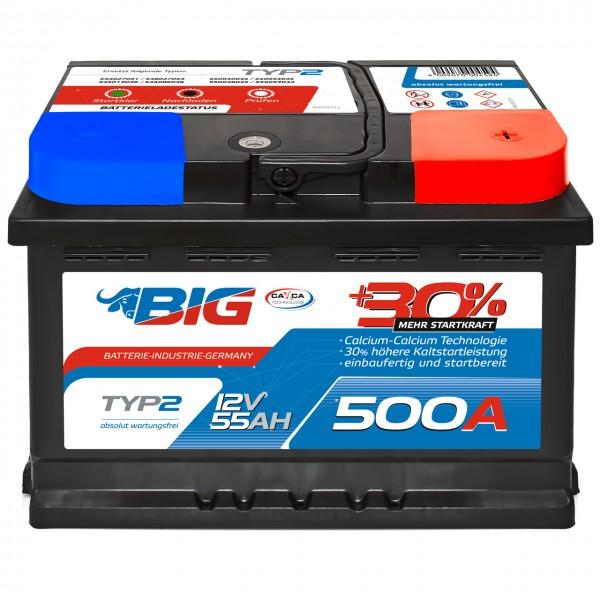 BIG +30% Silver Edition 12V 55Ah 500A/EN
