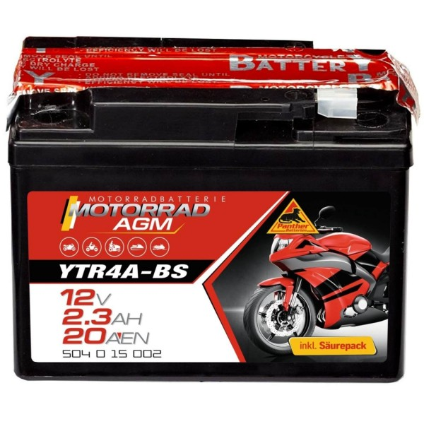 Panther AGM 12V 2,3Ah 20A DIN 50415 YTR4A-BS