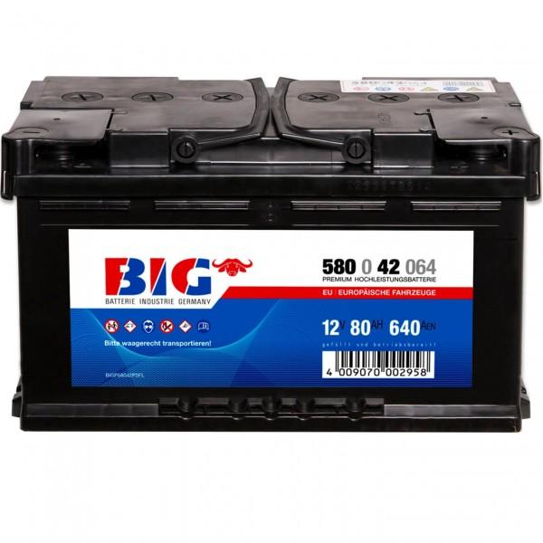 BIG Premium 12V 80Ah 640A DIN 58042