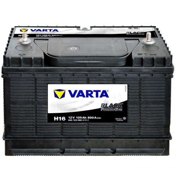 Varta H16 Promotive Black 12V 105Ah 800A