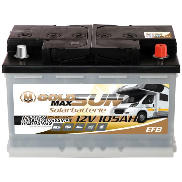 GoldMax EFB Solarbatterie 12V 105Ah