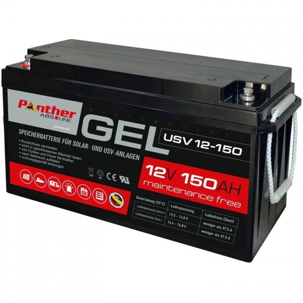 Panther saveline GEL 12V 150Ah USV-Batterie mit 1800 Zyklen