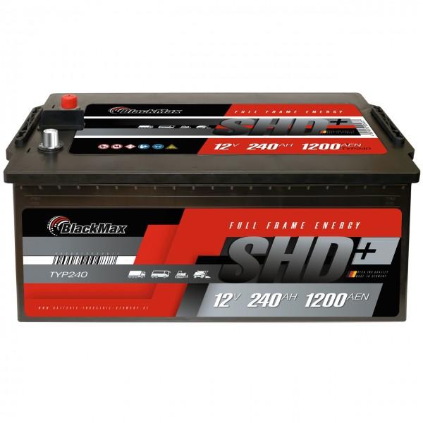 BlackMax SHD 240 LKW Starterbatterie - 12V 240Ah 1200A/EN