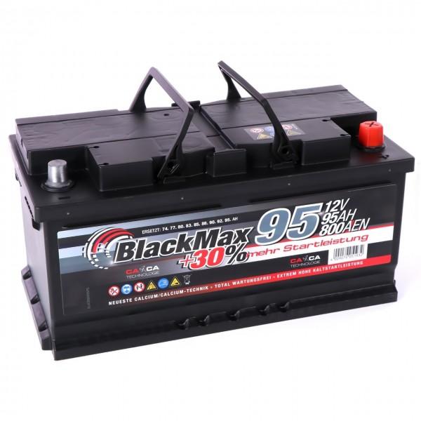 Starterbatterie BlackMax 95Ah - Ansicht von rechts