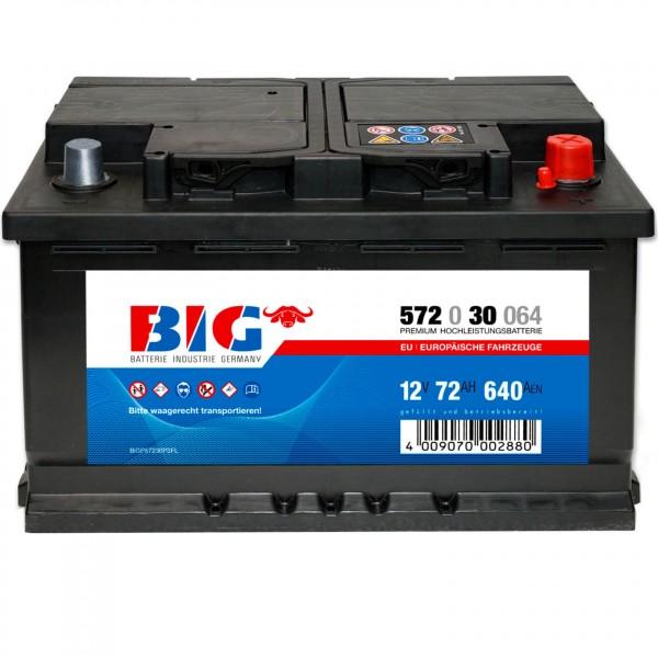 BIG Premium 12V 72Ah 640A DIN 57230