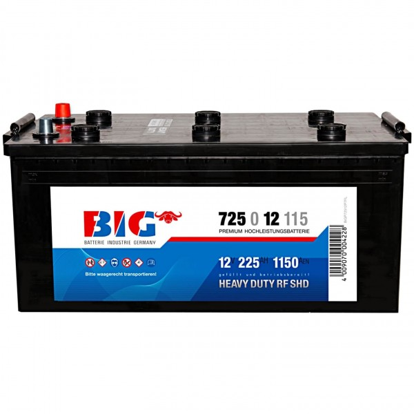 BIG Premium 12V 225Ah 1150A Starterbatterie 72512