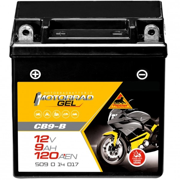 Panther 50914 GEL Batterie 12V 9Ah YB9-B