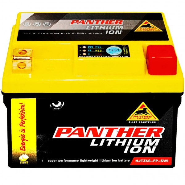 Panther Lithium Motorradbatterie 12V 4Ah HJTZ5FP