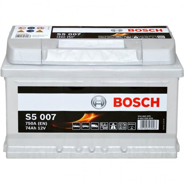 Bosch 12V 74Ah S5007 Batterie 0092S50070
