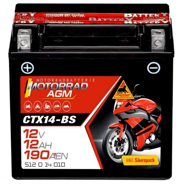Panther Motorradbatterie AGM 12V 12Ah Mercedes Benz A2115410001