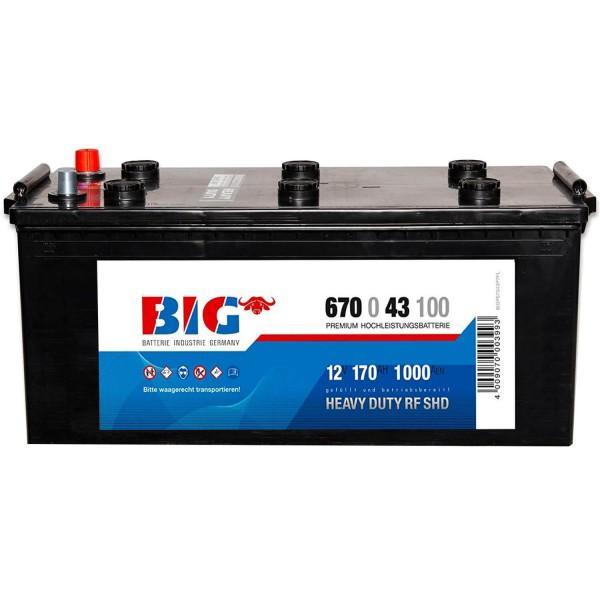 BIG Premium 12V 170Ah 1000A DIN 67043