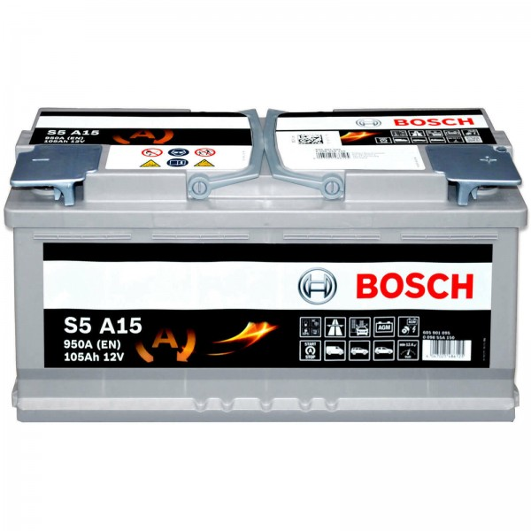 Bosch S5A15 Autobatterie Start-Stop 12V 105Ah AGM