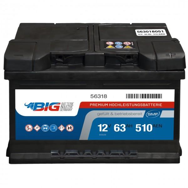 BIG Premium 12V 63Ah 510A DIN 56318
