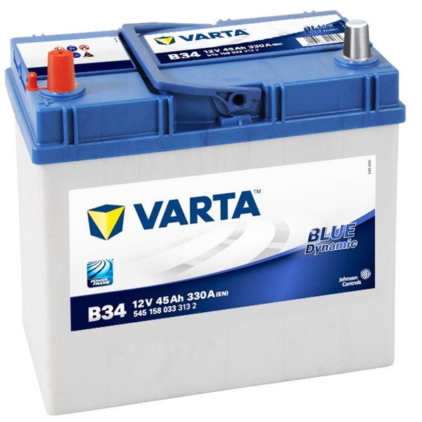 Varta B34 Autobatterie 12V 45Ah 330A 545 158 033