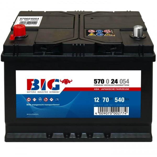 BIG Premium 12V 70Ah 540A DIN 57024