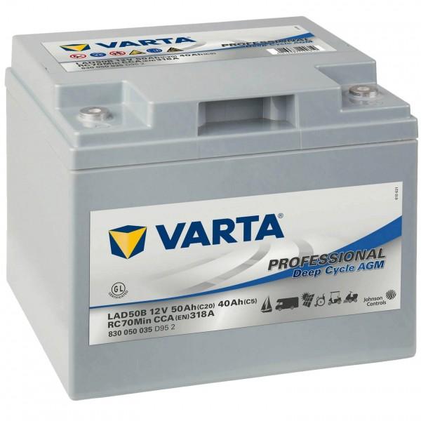 Varta LAD50B AGM 12V 50Ah Versorgerbatterie
