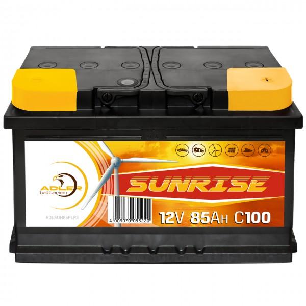 Adler Sunrise Solar 12V 85Ah Versorgungsbatterie