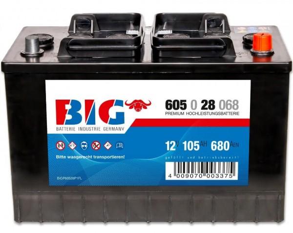 BIG NFZ 12V 105Ah 680A DIN 60528