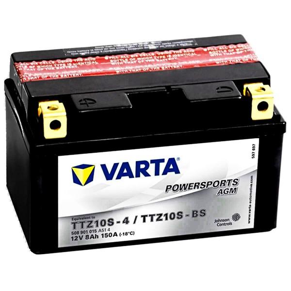 Varta YTZ10S-BS Powersports AGM 12V 8Ah YTZ10S-4