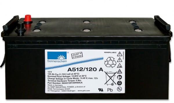 Sonnenschein Dryfit 12V 120Ah A512/120 A Batterie GEL